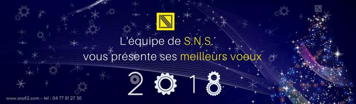 Toute l'équipe de SNS vous présente ses meilleurs voeux pour 2018.